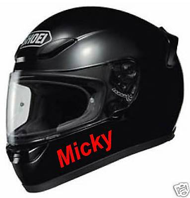 CRASH HELMET NAME Decal Graphic Sticker Bike X2 Visor • 3.50£