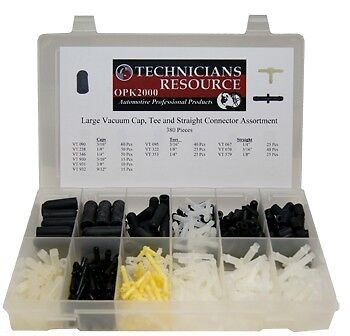$129.75 • Buy Large Vacuum Tee, Cap And Connector Assortment (380 Pcs) With Organizer Box