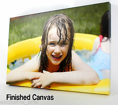 PERSONALISED XL 30x20 LARGE A1 CANVAS PRINTS Your PHOTO ON  18MM DEEP FRAME • 15.83£
