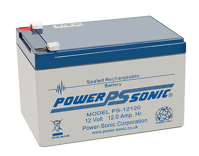 PS-12120 Power-Sonic 12 Volt 12Ah Rechargeable Lead Acid 12V PS12120 Battery • 35.94£