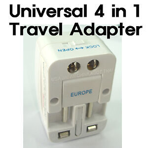 AU6.62 • Buy Universal 4 In 1 Travel Adapter