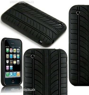 £2.49 • Buy Apple IPHONE 2G / 3G / 3GS Silicone Tyre Tread Case Cover - UK SELLER FREE POST