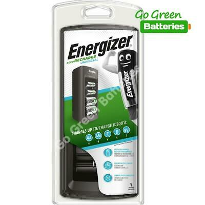 Energizer 3 Hour Universal Rechargeable Battery Charger For AA AAA C D & 9V • 18.79£