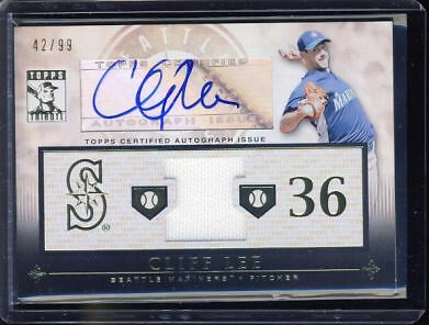 $42 • Buy Cliff Lee 2010 Topps Tribute Relic /99 Auto Autograph