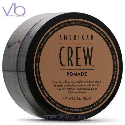 £9.56 • Buy AMERICAN CREW (Pomade, Medium Hold, High Shine, Hair Styling, Puck For Men)