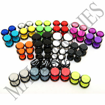 $6.95 • Buy V011 Fake Cheaters Illusion Faux 16G Ear Plugs Earrings Studs 4G 2G 0G 00G 1/2