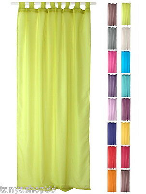 TAB TOP ORGANZA VOILE NET CURTAIN PANEL EXTRA LONG - 240cm 94 Inches Drop • 9.99£