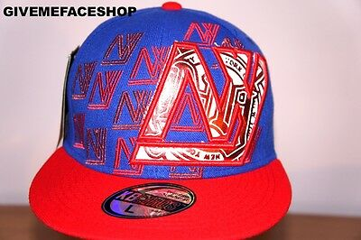 New York Fitted Caps, Hip Hop NY Fitted Bling Street Dance Flat Peak Hats • 13.49£