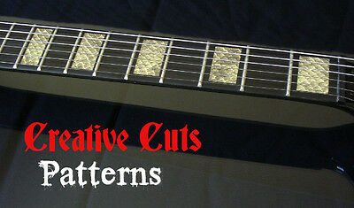 Snake Skin Blocks Fret Markers Inlay Block Sticker Decal For ANY BASS And GUITAR • 14.78£
