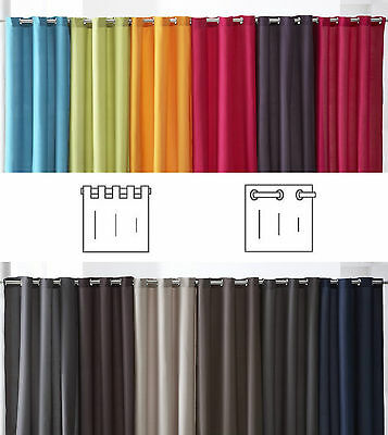 £12.01 • Buy Eyelet Ring Top & Tab Top Curtains Panels Extra Long 55 X 102  140 X 260cm