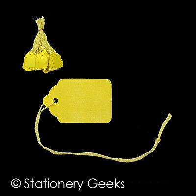 £1.69 • Buy 100 Yellow Strung Tickets 42 X 27 Mm Price Tags String Swing Labels 42mm X 27mm