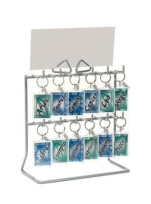 £22.99 • Buy Compact 12 Hook Key Ring / Keyring / Key Fob / Jewellery Counter Display Stand