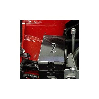 $49.99 • Buy 05-09 Ford Mustang Stainless Steel Fuse Box Cover & Cobra Emblem Brushed Satin