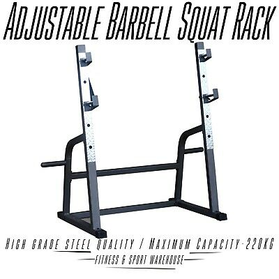 AU299 • Buy Commercial Squat Rack Stand Gym Exercise Equipment Station For 7ft Barbell