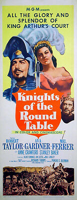 KNIGHTS OF THE ROUND TABLE 1953 Robert Taylor Ava Gardner US 14x36 POSTER • 99.50£