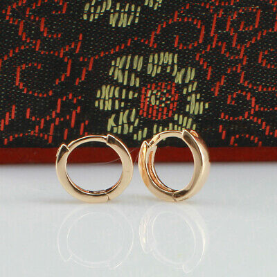 AU8.99 • Buy 10 Mm, 18k Gold Filled Unisex Huggies Hoop Solid Earrings