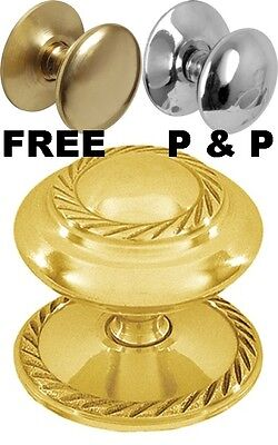 £4.99 • Buy All Sizes SOLID BRASS CUPBOARD CABINET DRAWER SHUTTLE KNOBS PULL HANDLES