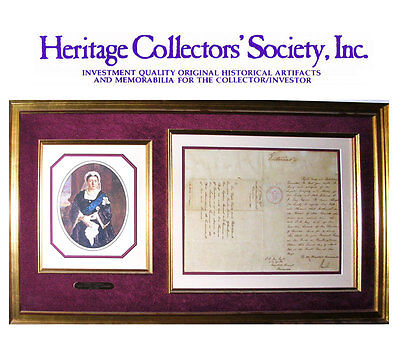 £1823.72 • Buy Queen Victoria Signed Document Re Canada Dated April 2, 1841