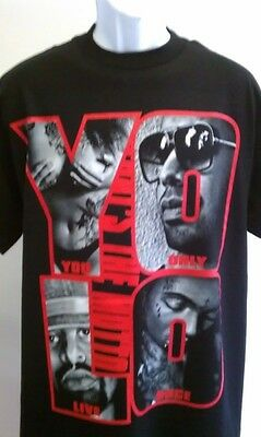 Yolo Ymcmb Hip Hop T-shirt Drake Weezy You Only Live Once Sm Med Ld Xl 2x 3x 4x • 8.27£