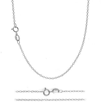 $4.69 • Buy .925 Sterling Silver 1mm Italian 925 Cable Chain Necklace For Pendants ALL SIZES