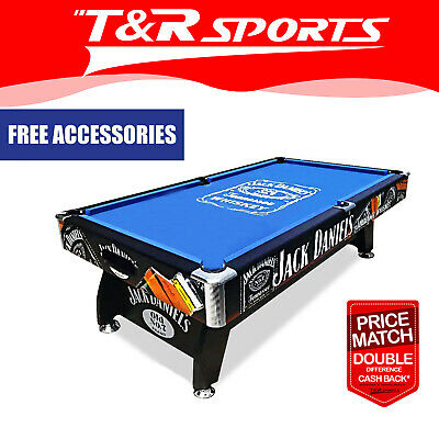 AU839.99 • Buy JD LOGO 8FT MDF Black / Blue Pool Snooker Billiards Table Free Accessory