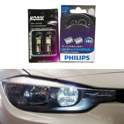AU49.99 • Buy KONIK H6W BAX9S 6000K WHITE LED Parker Light + PHILIPS CANbus For BMW F20 F30