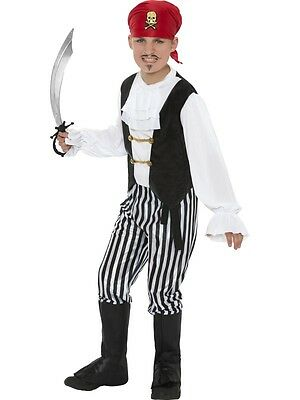 £10.75 • Buy Boys Pirate Fancy Dress Costume Kids Childrens Outfit Caribbean Boy Ages 4 - 12