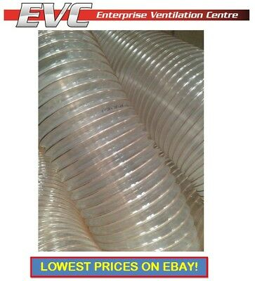 PU Flexible Ducting Hose - Ventilation, Fume&Dust Extraction, Woodworking • 12.62£