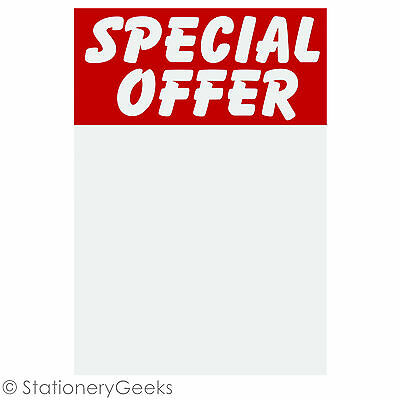 24 SPECIAL OFFER Printed Sale Card 6x4 Price Tickets Label Discount Shop Pricing • 1.99£