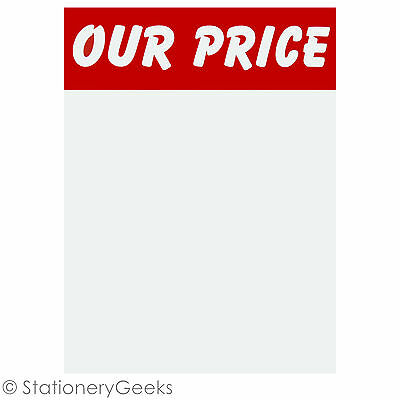 48 OUR PRICE Sale Card 4x3 Price Tickets Label Discount Shop Pricing Sign Tag UK • 1.99£