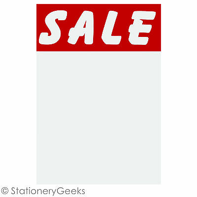 """£1.99 • Buy 24 SALE Cards 6x4"""" Price Tickets Label Discount Shop Pricing Sign Tag Market UK"""