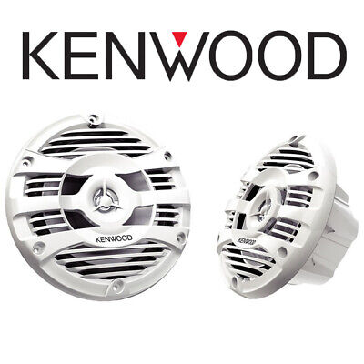 Kenwood 16.5cm 150W White Marine Speakers For Boats Bathrooms Kitchens Grills • 64.99£