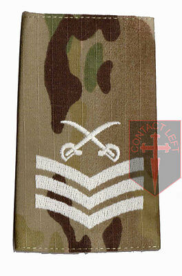 Pair SGT MULTICAM MTP PTI Rank Slides Sergeant ( Physical Training Instructor • 6£