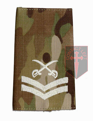Pair CPL MULTICAM MTP PTI Rank Slides Corporal ( Physical Training Instructor • 6£