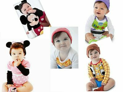 AU6 • Buy Sales!!! New Disney Baby Romper Outfit Set, Long Sleeve With Hat,Size At 0.1.2.3