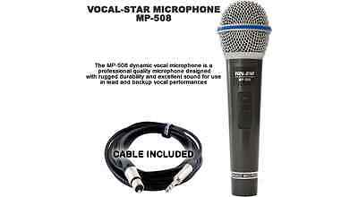 £15.99 • Buy Vocal-Star MP-508 Professional Wired Cable Microphone For Karaoke Machine PA