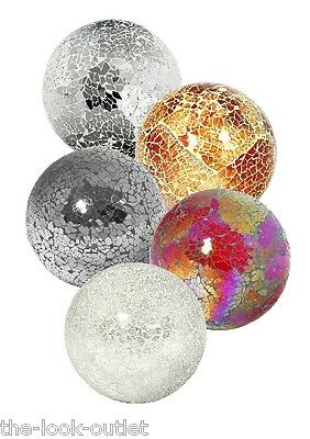 £7.20 • Buy Mosaic Glass Large Balls - Choose Colours - Great Focal Point For Rooms
