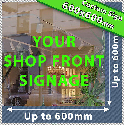 SHOP FRONT LETTERING Custom Large Business Vinyl Shop Sign Sticker Decal Numbers • 37.90£