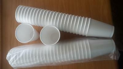 500 - 20oz WHITE FOAM / POLYSTYRENE DISPOSABLE PARTY CUPS • 39£