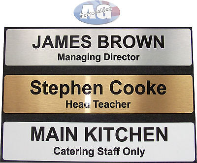 £4.09 • Buy Personalised Door Sign 255x50mm Home Office Business 2 LINES OF TEXT