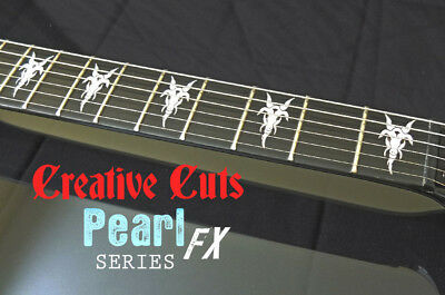 Goat Head B.C. Rich MOP Fretboard Markers Inlay Sticker Decal For BASS & GUITAR • 14.78£