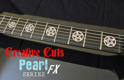 Pentagram MOP & BLACK PEARL Fret Markers Inlay Sticker Decal For BASS & GUITAR • 14.78£