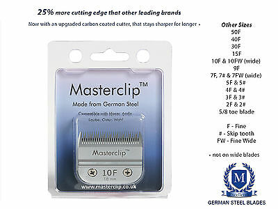 Dog Clipper Blades A5 Masterclip German Steel F & Skip Tooth - Fit Oster & Andis • 29.99£
