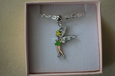 Tinkerbell Necklace Silver Plated Gift Box Or Gift Bag • 4.49£