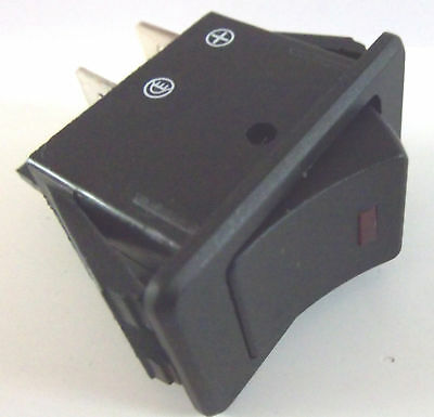 On / Off Illuminated  LED Rocker Switch  Rectangular Square 20A @12V  RED • 3.55£