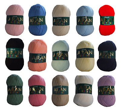 Aran Wool Woolcraft Aran 400g Knitting Yarn, Acrylic Or Wool Mix 40+ Colours • 6.49£