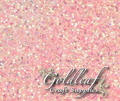 Baby Pink Iridescent Nail Art Glitter For Rockstar Toes - Multi Size Mix • 1.99£