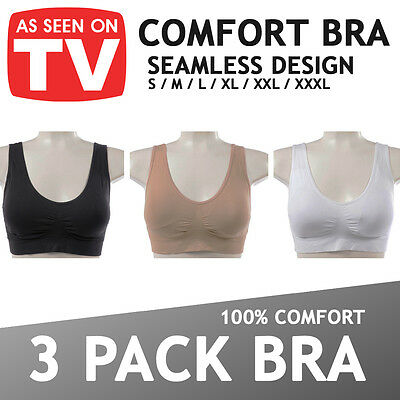 £9.98 • Buy WOMENS SEAMLESS COMFORT BRA Comfy Shapewear Sports Stretch Crop Top Vest Support