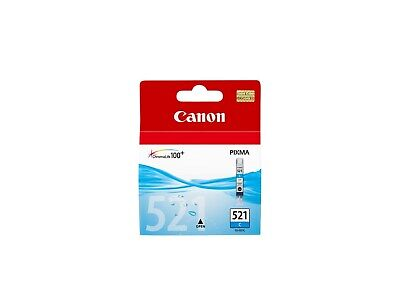 £11.75 • Buy Canon CLI-521C Ink Cartridge - Cyan, 9ml (Yield 505 Pages)