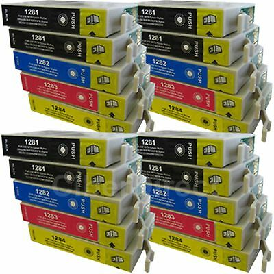 20 CiberDirect Replacements For Epson T1285 Printer Ink Cartridges - VAT Invoice • 24.45£